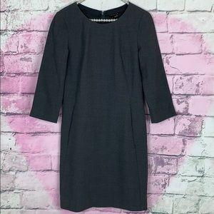 Theory wool blend gray shift dress career 2